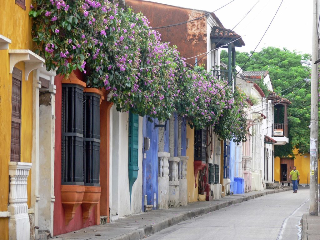 cartagena colombia city buildings